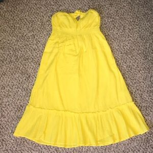 Yellow Old Navy Strapless Dress